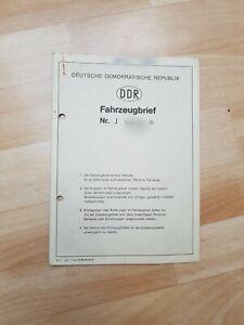 Simson S70 C Fahrzeugbrief Zulassung Registrierschein KBA Papiere 1984