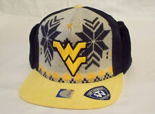 West Virginia Mountaineers Top of the World NCAA Ugly Sweater Strap Baseball Cap