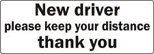 Nuevo Controlador Por favor, mantenga su coche camioneta bus signo de distancia Calcomanía Adhesivo Parachoques