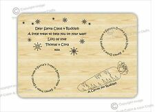 Personalised Christmas Eve / Wooden Santa Treat Plate, Platter board.