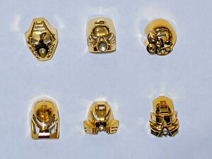 LEGO Bionicle Custom Chrome Gold Toa Mata Masks Complete set Hau Kaukau More!
