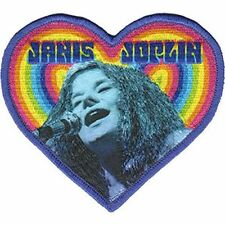 Janis Joplin - Heart - Embroidered Patch - Brand New - Music Band 4470
