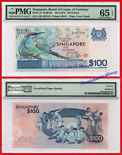 SINGAPUR SINGAPORE 100 Dollars dolares 1977 Pick 14 UNC PMG 65EPQ