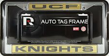 Univ of Central Florida Knights Laser Cut Chrome Metal License Plate Frame