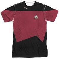Star Trek Tng Command Uniform Costume Sublimation Licensed Adult T-Shirt