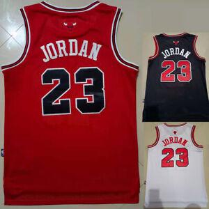 Michael Jordan 1984 Rookie CHICAGO BULLS Men's Red/Black/White Jersey FREE SHIP