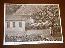 Treni e ferrovie 1875 Lavori per la galleria del Gottardo Serbatoio compressori