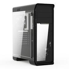 XIGMATEK frontliner Nero Mid Tower Gaming PC 3x CASE 12 cm ventole LED blu finestra