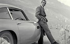 Framed Print - James Bond 007 and His Aston Martin DB5 (Picture Poster Art Car)