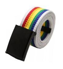Herren Damen Regenbogen Gürtel Lesbische Gay Pride Accessoires Bunt 110cm