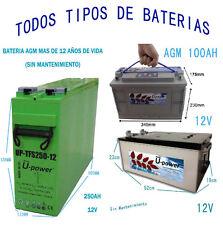 Batería solar Monoblock Acido Plomo AGM 160AH 200AH 250AH Fotovoltaica Battery