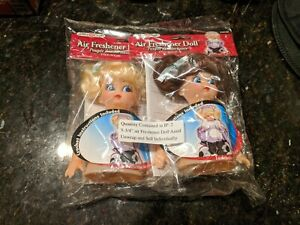 "2 Vintage 5.75"" Fibre Craft Air Freshener Doll heads with Free Crochet Pattern"