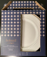 "New Set 4 Ciroa Hobnail 8"" Side Or Salad Plates Chef's Collection Porcelain Dish"