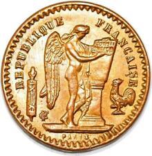 P1713 Jeton 20 Francs Génie 1894 Cartaux SPL FDC ->Faire offre