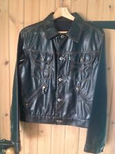 Moschino Jeans Vintage Faux Leather Jacket Super Chic And Light weight Sz UK 10