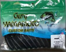 Yamamoto Grub Double Tail 15-20-021 Black Blue Flake 4 Inch Jig Trailers