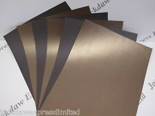 Bronze Pearlescent (Linen) Embossed Paper 110gsm 15 x 1-Sided A4 AM372