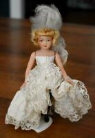 LOVELY & RARE OLDER FRENCH CELLULOID MOULIN ROUGE CAN-CAN DOLL ORIGINAL CLOTHING