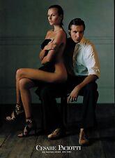 2002 CESARE PACIOTTI  shoes : BRIDGET HALL Sexy & Nude  magazine Print AD 3-pg