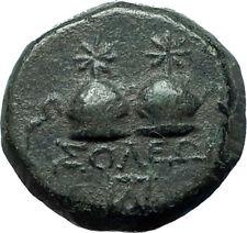 SOLOI in CILICIA 150BC Ancient Greek Coin Tyche Dioscuri GEMINI Caps i66156