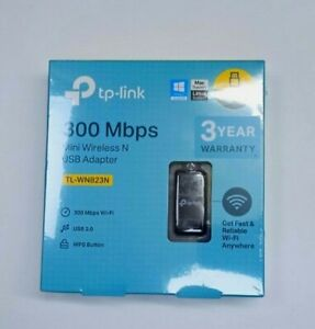 TP-LINK TL-WN823N 300 Mbps Mini Wireless and USB Adapter, 2.4 GHz - Black