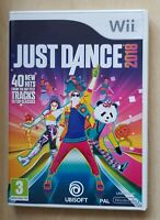 Nintendo Wii game - Just Dance 2018 + instructions