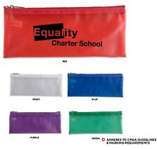 150 Personalized Teach-It Pencil Pouch Imprinted with Your Logo or Message