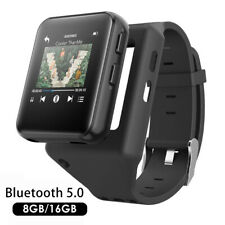 "K1 Portable Clip 1.54"" Touch Screen Bluetooth MP3 Audio Players Watch FM Radio"