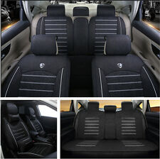 5-Seats Car Deluxe Edition Anti-skid Seat Cover with Pillows Linen All Seasons