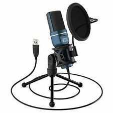 Usb Gaming Microphone, Tonor Computer Condenser Pc Mic with Tripod Stand & Pop