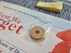 2012 $2 Red Poppy ANZAC remembrance Coin RSL $2 & Certificate Card RARE UNGLED!