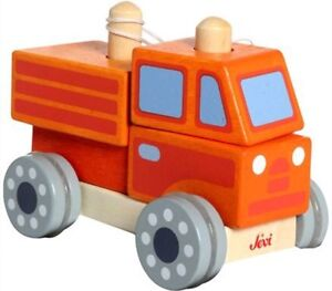 Wooden - CONSTRUCTION DUMP TRUCK Building Blocks Wheels Kids Toy Boys ~ BNIB AUS