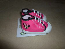 Disney Baby Minnie Mouse 9-12 Months Comfy Fit Shoes By Planet Sox~NEW WITH TAGS
