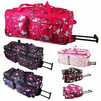 Womens Girls Quality Hand Luggage Holdall Wheeled Cabin Travel Bag Suitcase New