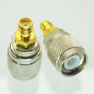 1pce Adapter TNC plug male to SMA jack female RF connector straight