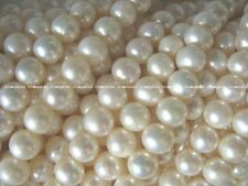 5 strands A 9.5mm white round freshwater pearl beads wholesale nature amazing