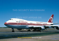 MALAYSIAN AIRLINE SYSTEM BOEING 747 200 A3 POSTER PRINT PHOTO PICTURE IMAGE  x