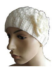 Headband with Flower. Instructions to make your own in 2 sizes from Knitwitz