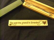 Personalizzati Penna a Sfera in Legno & SCATOLA IN LEGNO-regalo nonna-progettato a mano