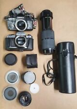 Vintage Camera Bodies Yashica  Lot of 2 plus lenses and extras