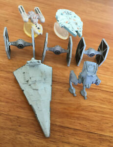 1994 Micro Machines STAR WARS Galoob Spaceships TIE Y-Wing Falcon Destroyer