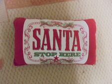 Adorable Santa Stop Here Decorative Christmas Pillow With Bells 16 x 9