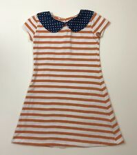 PERSNICKETY Gypsy Caravan McKenna Orange Stripe Collar Dress Size 3T