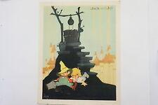 Kellogg's Nursery Rhyme print Jack and Jill 1938 Vintage Vernon Grant