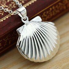 Box Necklace Pendant Silver Plated Wish Box Prayer Photo Locket Frame Pendant