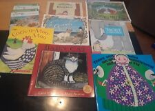 Vintage Mixed Lot of 8 Children's Books Kindergarten Educational Picture Books