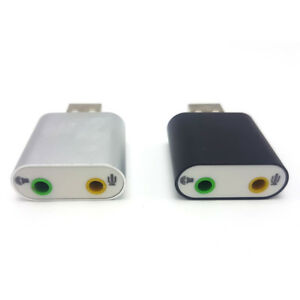 Audio Adapter 3D Sound card 7.1 USB To 3.5mm mic headphone Jack Stereo Headsy3