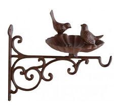 Cast Iron Vintage Small Bird Bath Feeder Bracket Hanging Basket Chic Garden New