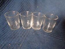 lot de 4 verres ancien godet en verre cristal fait main aperitif digestif goute