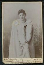 Vintage Serbia Royalty: Murdered Queen Draga Obrenovic Cabinet Card Photo c 1900